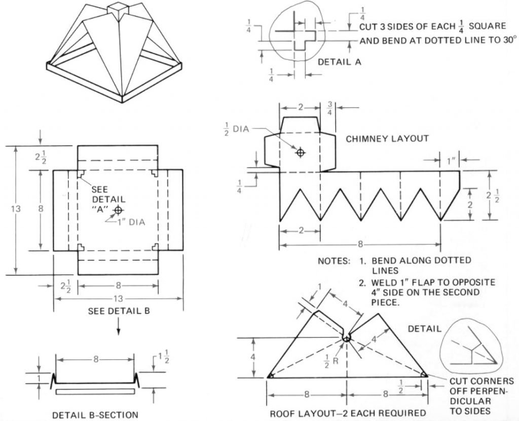 bird feeder metal plans