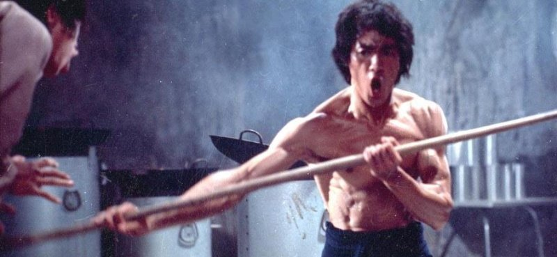Bruce Lee with Bo Staff