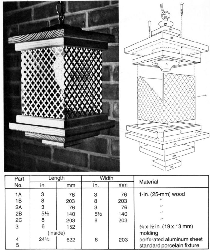 colonial lamp metal plans