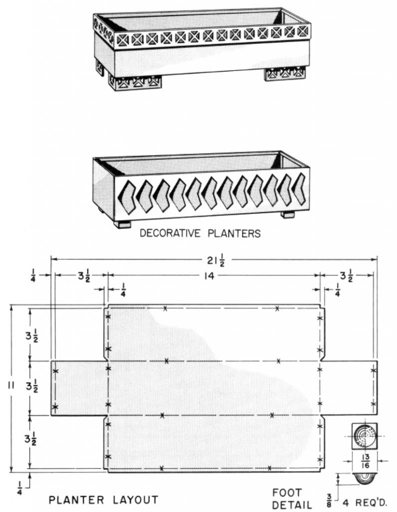Planter box metal plans