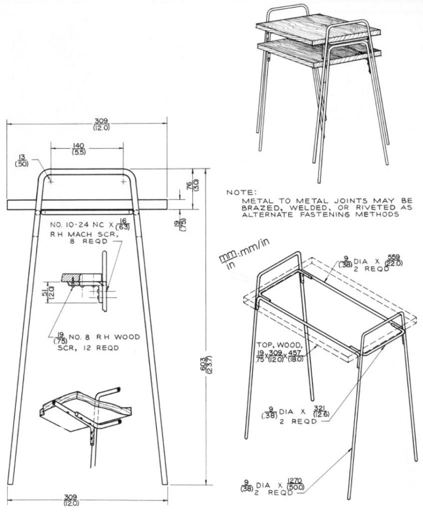 Stackable Tables Metal Shop Plan