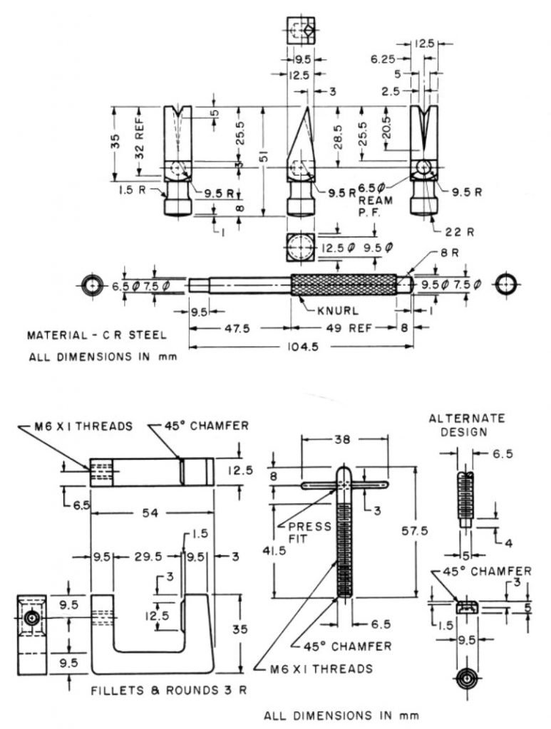 Tack hammer and c-clamp metal shop plans